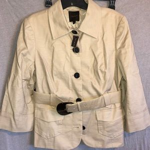 NWT! The limited tan belted blazer! Large!